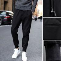 Men Casual Harem Black Track Trousers Sweatpants Bottom Pencil Pants Plus Size