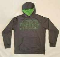 Star Wars Long Sleeve Glow In The Dark Poly Fleece Pullover Hoodie Men's Sz M