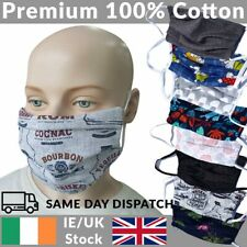 Cotton Face Mask Reusable Washable Premium 100% Cotton