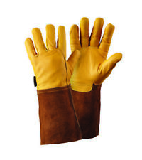 Pack (6) Briers Golden Leather Gauntlet Gloves - Size Large B6534 - NEW