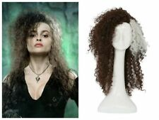 Curly Brown Wig Hair Cosplay Costume Props Accessory Halloween