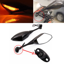 Amber Motorcycle LED Turn Signal Racing Side Mirror For 2006-2011 Honda CBR600RR