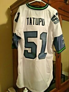 Throwback Seattle Seahawks Lofa Tatupu NFL Engineered Football Jersey Size 2XL
