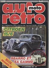 Auto Moto Retro   N°16   Decembre 1981 : Citroen 15/6