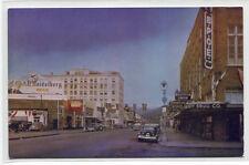 Wishkah Street Cars Drug Store Aberdeen Washington 1950s postcard