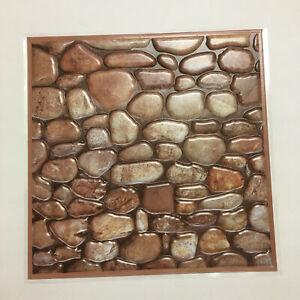 10 PCS Peel Stick Wall Tile River Rock Peble Stone Backsplash Lightweight 12 in
