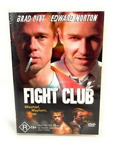 Fight Club (DVD, 1999) Brad Pitt Region 4 Free Postage