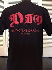 Rare Vtg. 02 Dio Dragon Crew Tour Shirt Sz M/L Rock Evil Metal Sabbath Rainbow