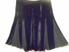 Mid-Calf Viscose A-Line Solid Skirts for Women