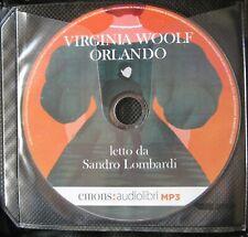 Audiolibro audiobook cd MP3  ORLANDO  di  VIRGINIA WOOLF  usato