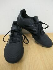 Adidas Black Suede Style Football Boots Size UK 3 [S6]