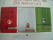 Club Nintendo Super Mario Bros 25th Anniversary Rare NEW Handkerchief Set Japan