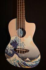 Luna Great Wave Concert Satin Acoustic Ukulele w/Gig Bag - Free Shipping!