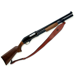 Tourbon Cowhide Leather Rifle Sling Gun Carry Strap 2 Points Shooting Adjustable