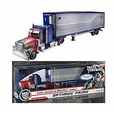2017 Hasbro Transformers Trailer Converts to Mechtech Optimus Prime Robot 14.6""