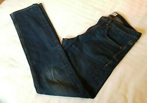 QUIKSILVER Straight Fit Revolver Vintage Rinse Mid Blue Jeans W33 L32
