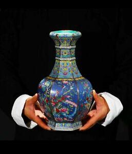 Jingdezhen Ceramic Vase Enamel Chinese Ming Qing Porcelain Antique Reproduction