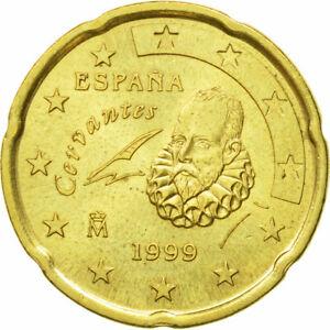 [#582328] Espagne, 20 Euro Cent, 1999, TTB+, Laiton, KM:1044