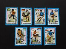 Dominica 1974 - World Cup set of 7 MH stamps SG422-428