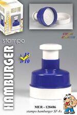 STAMPO PER HAMBURGER 13 x 10 CM PRESSA CARNE MANUALE PRESSA 128486