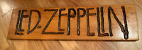 Vintage sign Led Zeppelin Hand Crafted Carved Wood Sign Rock & Roll Band 1970's