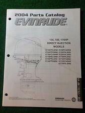 2004 BRP Evinrude Outboard Parts Catalog Manual 135 150 175 HP DI 60 V6 DEALER