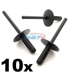 10x Mini Plastic Pop Blind Rivets 6mm, Arch Liner, Trim, Front Splitter & Skirts