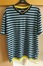 Lee Cooper navy/blue/yellow v neck t-shirt size large
