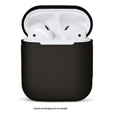 AirPods Silicone Case Cover Protective Skin Black