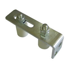 Sliding Gate Roller Guide with 2 Nylon Rollers. Heavy Duty Galvanised Steel