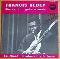 RARE AFRICAN FOLK 10'' LP FRANCIS BEBEY PIECES POUR GUITARE SEULE OG FR OCORA