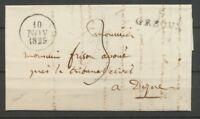 1829 Lettre Marque Linéaire 5 Gréoux BASSES-ALPES(5) Indice 15 X2395