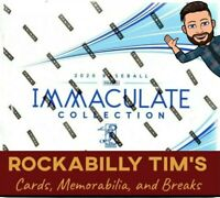⚾ 2020 PANINI IMMACULATE MLB BASEBALL Cards Hobby BOX BREAK- 1 Random Team.  ⚾
