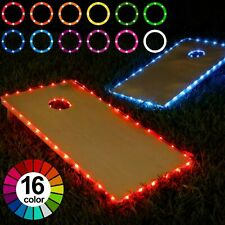 Cornhole Lights 16 Colors Change Cornhole Board Edge and Ring Led Lights with.