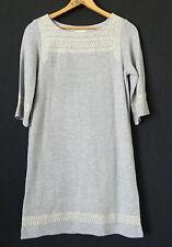 Edme&Esyllte Dress Tunic Heather Gray Mini 3/4 Sleeve Embroidery Size XS