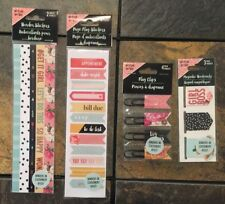 New listing Lot of 4 Page Flags Clips Magnetic Bookmark Border Stickers Stnry Planner Addict