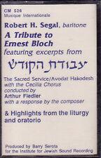 A Tribute To Ernest Bloch - Robert H Segal (Cassette, 1989, CM-526) NEW Cantor