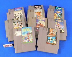 Lot of 11 Vintage 1980's Nintendo Games NES - Double Dragon II, Tetris & More