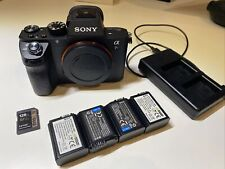 Sony Alpha A7S II 12.2MP Digital Camera - Black (Body Only) + 128gb card + 4 bat