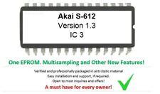 Akai S-612 - Version 1.3 Custom Firmware Upgrade Update EPROM for S612 Sampler
