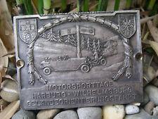 ADAC MOTORSPORTTAGE 1927 HARBURG WILHELMSBURG - AUTOMOBIL CLUB BADGE PLAKETTE