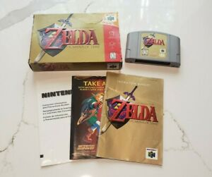 Zelda Ocarina of Time ~ Nintendo 64 N64 ~ Complete w/ box & manual authentic OEM