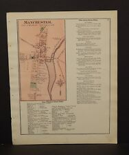 New York Ontario County Map Manchester 1874 W15#19