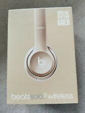 Beats Solo 2 Wireless Special Edition Gold  Empty Box  Booklet excellent conditi