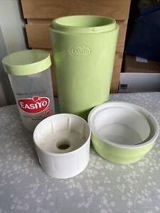 easiyo yogurt maker. unusual green colour complete with pot