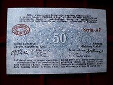 A  Russia - Poland - Lodz : 50 kopeek von 1915 kassenfrisch , -- sehr selten --
