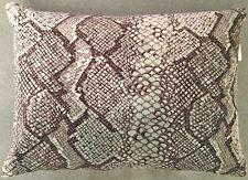 Designers Guild Oriago Fabric Bolster cover  Snakekin Velvet Dove Spearmint