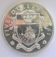 Bahamas 1970 Queen 5 Dollars 1.25oz Silver Coin