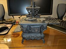 Antique Cast Iron Salesman's Sample Crescent Stove with Accessories original!