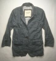 NWT Ambercrombie & Fitch New York 2 Button Womens Medium Gray Jacket C